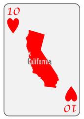 USA Playing Card 10 Hearts