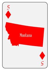 USA Playing Card 5 Diamonds