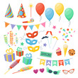 Celebration party carnival festive icons set. - 82117892