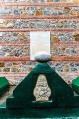 Tomb near the wall of Selimiye Mosque, Edirne, Turkey