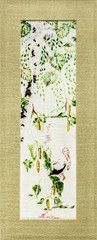 Beautiful embroidered pattern, handmade