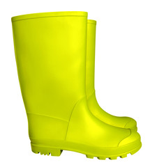 Rubber boots - yellow