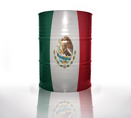 barrel with mexican flag