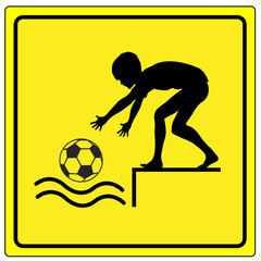 Caution No Ball Games by the Water