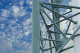 Steel structure of the column stack.