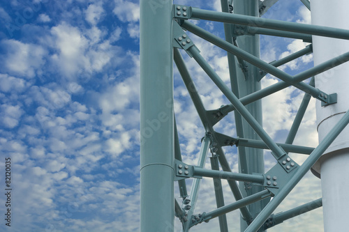 Steel structure of the column stack. - 82120035