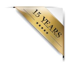 ribbon gold 15 Years