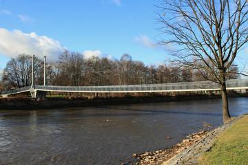 Bridge through river. Ceske Budejovice, Czech Republic