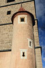 Medieval semi-tower. Ceske Budejovice, Czech Republic