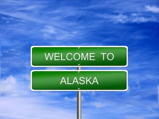 Alaska State Welcome Sign