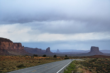 Rock formations and road, Arizona, United States