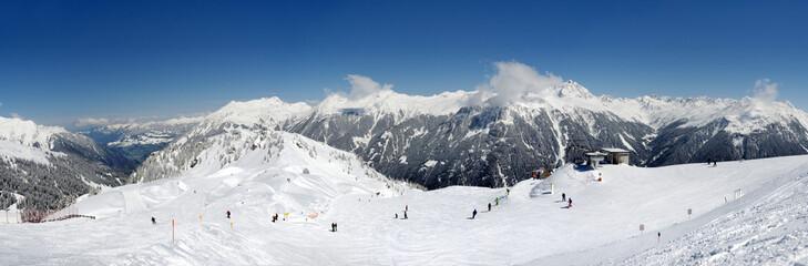 180° Panorama Silvretta Skigebiet Montafon Wintersport