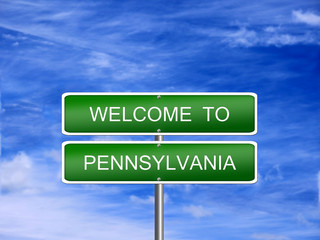 Pennsylvania State Welcome Sign