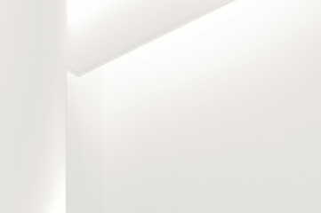 Corner of a Modern White Wall