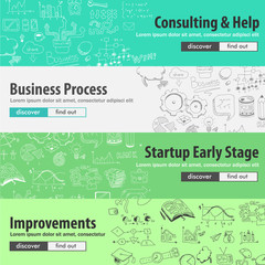 Flat design concepts for startups, consulting,  business