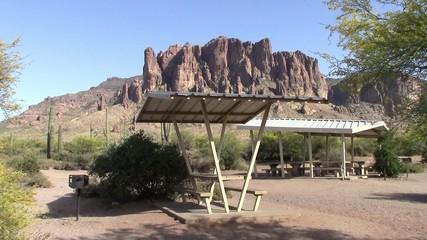 Lost Dutchman State Park, Arizona picnic tables
