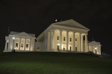 Thomas Jefferson's house at night
