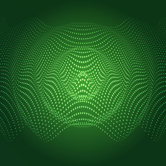 Abstract illustration of sound wave.