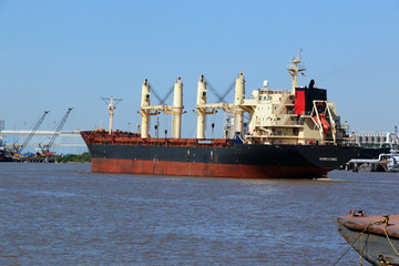 Cargo Ship on Ship cannel