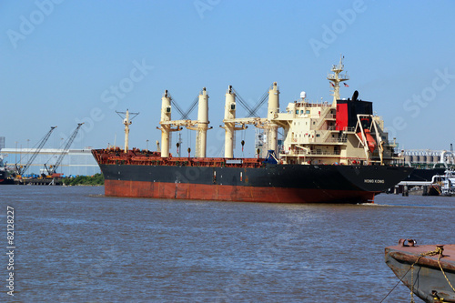 Cargo Ship on Ship cannel - 82128227