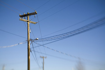 Utility Pole and Power Lines