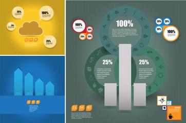 Infographics. Vector design template.