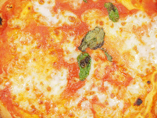 Margherita pizza background
