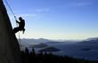 Leinwandbild Motiv Rock Climbing in Patagonia
