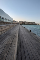 Wooden Dock At Seaport