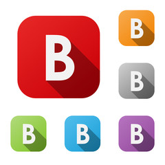 ALPHABET ICONS (letter B graphic design lettering)