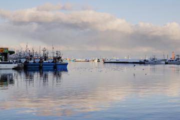 Fishing Port Harbor at Dusk