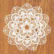 White crochet doily. - 82133286