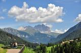 Veduta sul Monte Piz Boe, Gruppo del Sella, Val di Fassa