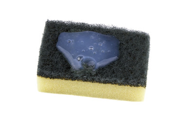 Kitchen sponge isolated white