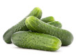 canvas print picture - Cucumber vegetable  isolated on white background cutout