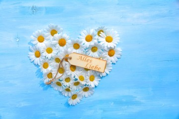 Glückwunschkarte - Alles Liebe - Blütenherz