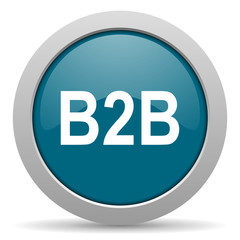 b2b blue glossy web icon