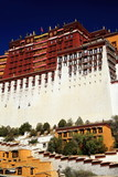 West wing Potala palace and surrounding wall. Lhasa-Tibet. 1370
