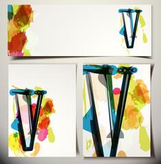 Artistic Greeting Card Letter V