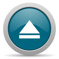 eject blue glossy web icon