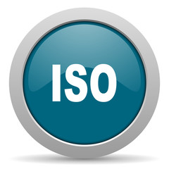 iso blue glossy web icon