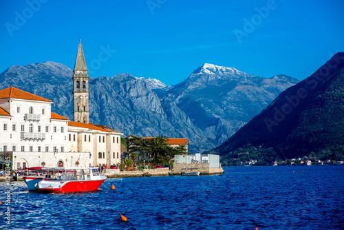 Perast city in Kotor bay - 82138485
