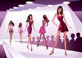 Fashion models represent new clothes