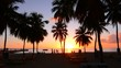 Sunset at Crash Boat Beach in Aguadilla, Puerto Rico