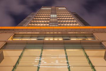 Close - up High morning building at night