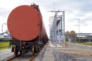 A shale oil storage facility