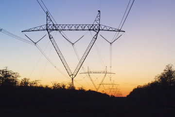 High Voltage Lines and Pylons