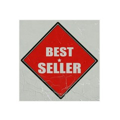 Best seller white stamp text on red background