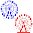 Silhouette atraktsion colorful ferris wheel. Vector  illustratio - 82146811