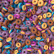 background of a pile of donuts